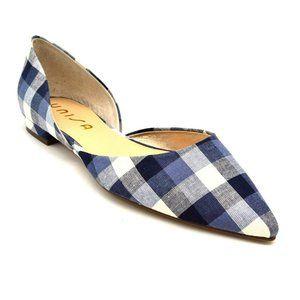 Unisa Luriza Plaid Pointed Toe Ballet Flats NEW